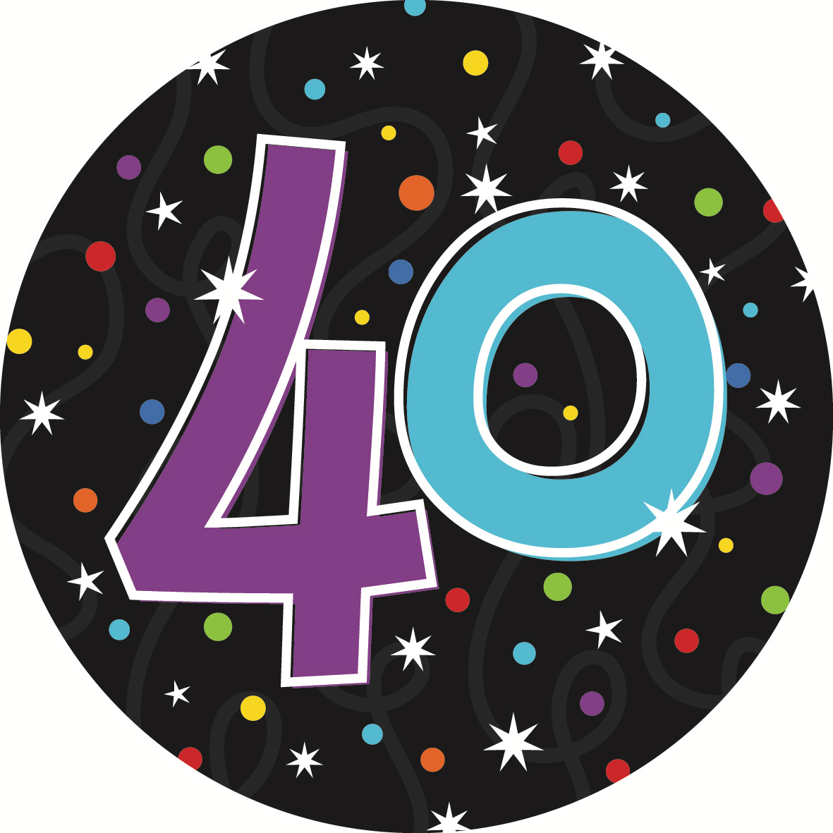 At 40 Party Decorations Balloons Party Supplies Party Decorations 40 Badge