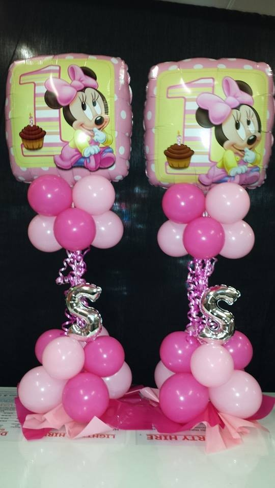 Minnie Mouse 1st Birthday Pink Table Decoration